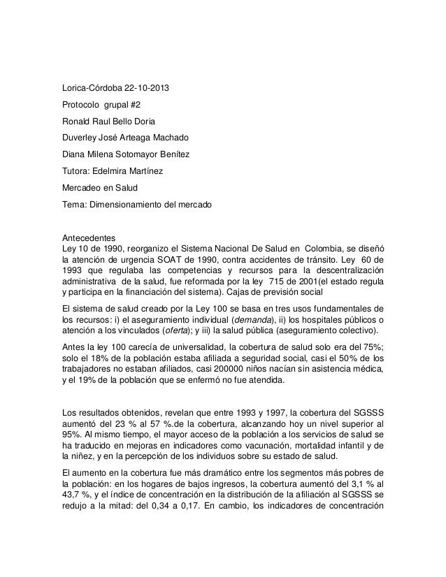 Lorica-Córdoba 22-10-2013 Protocolo grupal #2 Ronald Raul Bello Doria Duverley José Arteaga Machado Diana Milena Sotomayor...