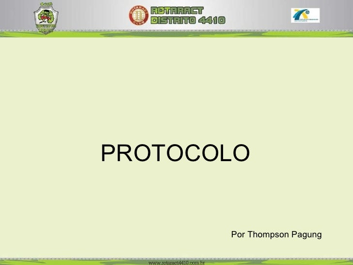 Por Thompson Pagung PROTOCOLO