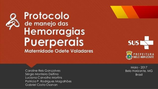 Caroline Reis Gonçalves Sérgio Monteiro Delfino Luciana Carvalho Martins Patrícia P. Rodrigues Magalhães Gabriel Costa Osa...