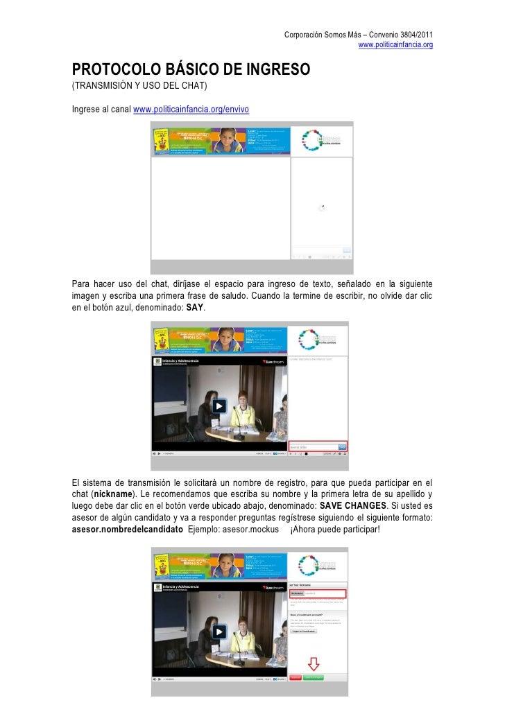 Corporación Somos Más – Convenio 3804/2011                                                                           www.p...