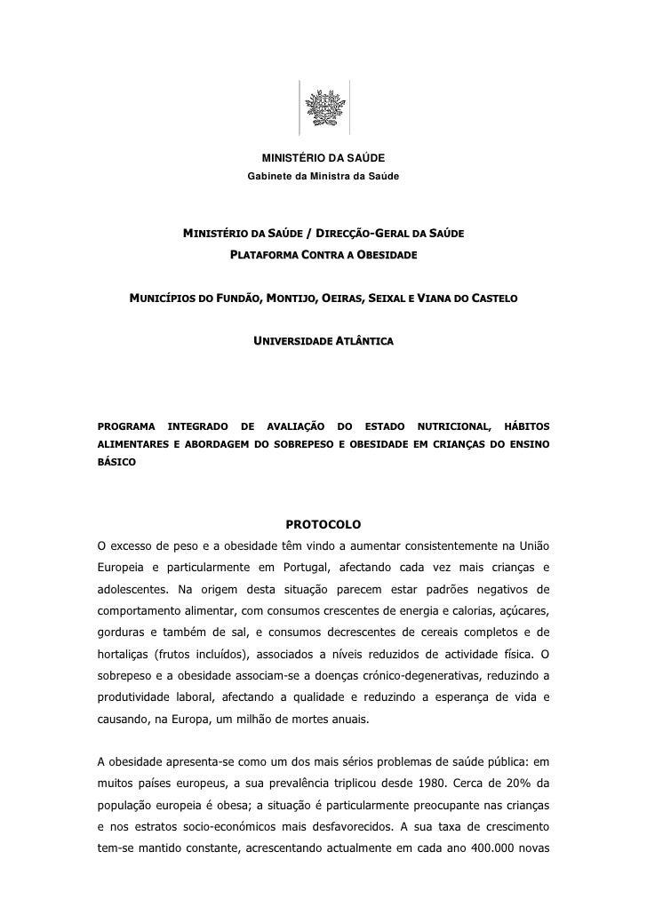MINISTÉRIO DA SAÚDE                            Gabinete da Ministra da Saúde                    MINISTÉRIO DA SAÚDE / DIRE...