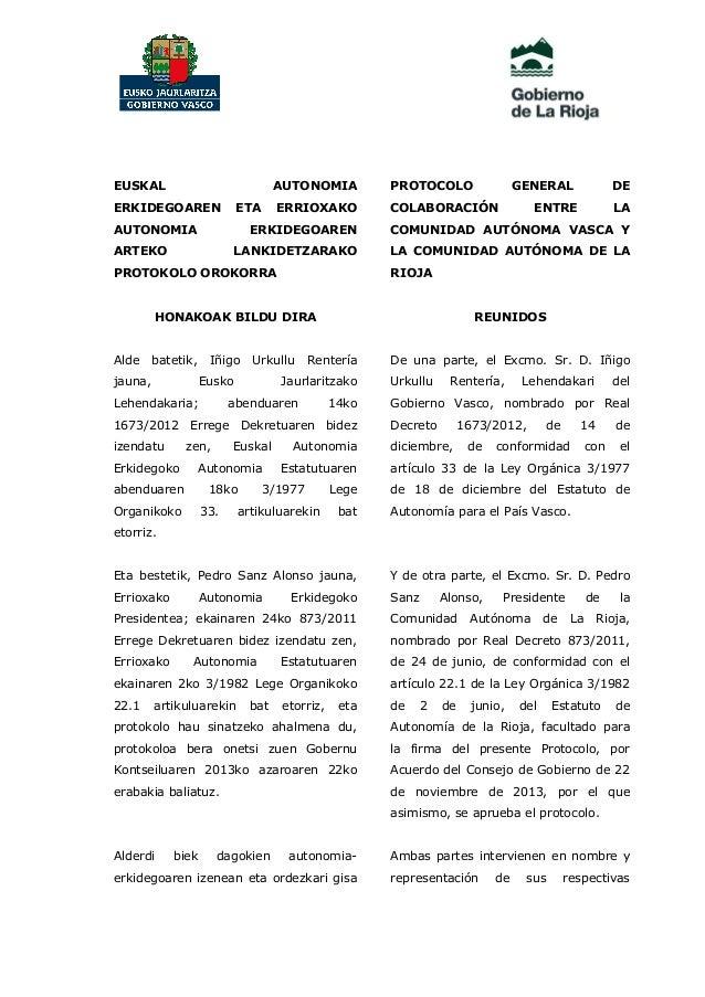 EUSKAL  AUTONOMIA  ERKIDEGOAREN  ERRIOXAKO  ETA  AUTONOMIA  PROTOCOLO COLABORACIÓN  DE  ENTRE  LA  ERKIDEGOAREN  COMUNIDAD...