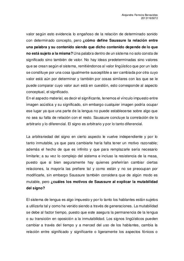 Protocolo de curso de lingüística general de Saussure: Capitulo I Slide 2