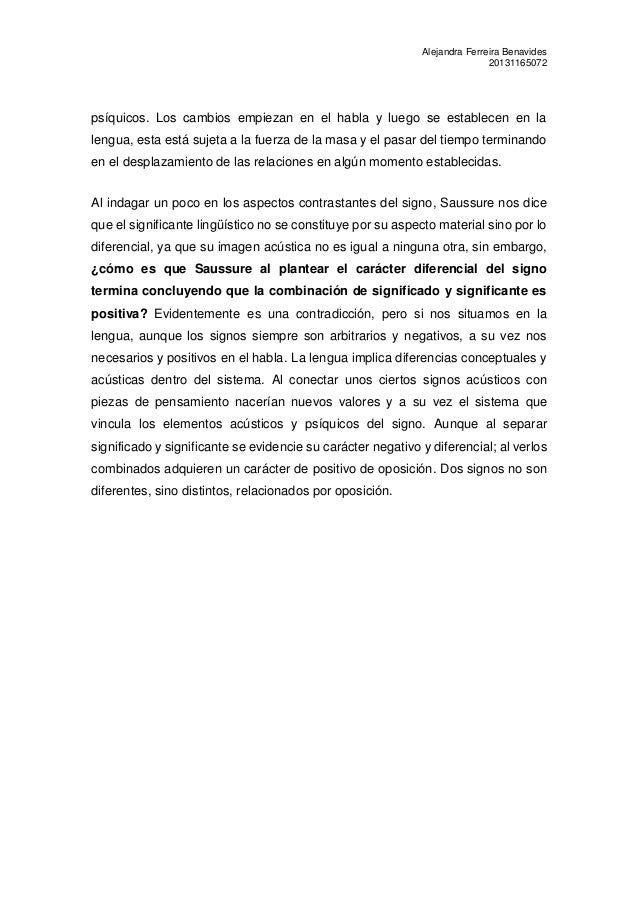 Protocolo de curso de lingüística general de Saussure: Capitulo I Slide 3