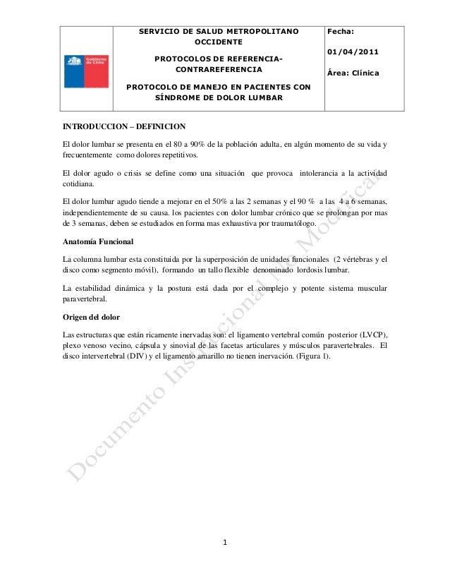 SERVICIO DE SALUD METROPOLITANO OCCIDENTE PROTOCOLOS DE REFERENCIA- CONTRAREFERENCIA PROTOCOLO DE MANEJO EN PACIENTES CON ...