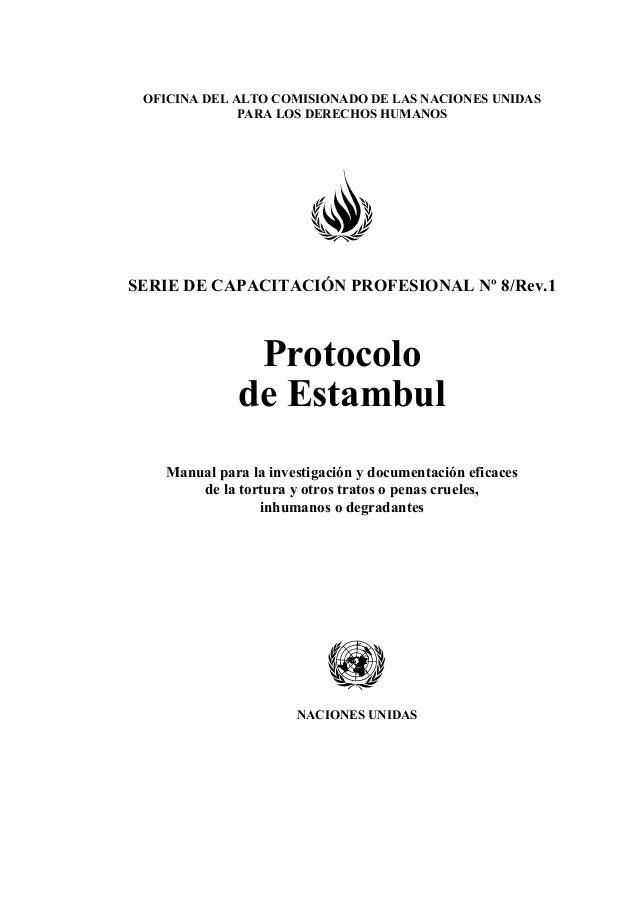 Protocolo de Estambul ONU  Slide 3