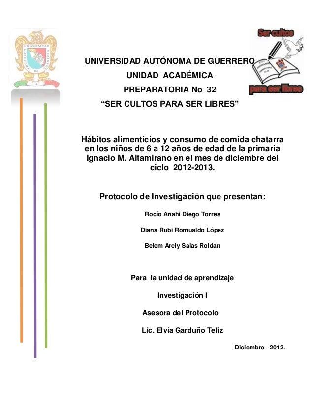 """UNIVERSIDAD AUTÓNOMA DE GUERRERO           UNIDAD ACADÉMICA          PREPARATORIA No 32    """"SER CULTOS PARA SER LIBRES""""Háb..."""