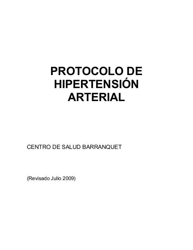 Barranquet Protocolo de hipertensión arterial