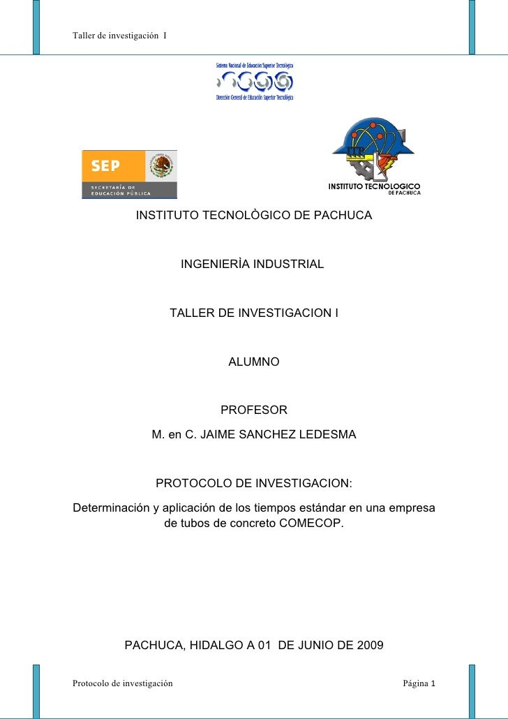 Taller de investigación I                     INSTITUTO TECNOLÒGICO DE PACHUCA                                 INGENIERÌA ...