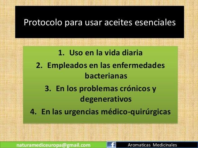 Protocolo del uso de aceites esenciales for Aceites esenciales usos