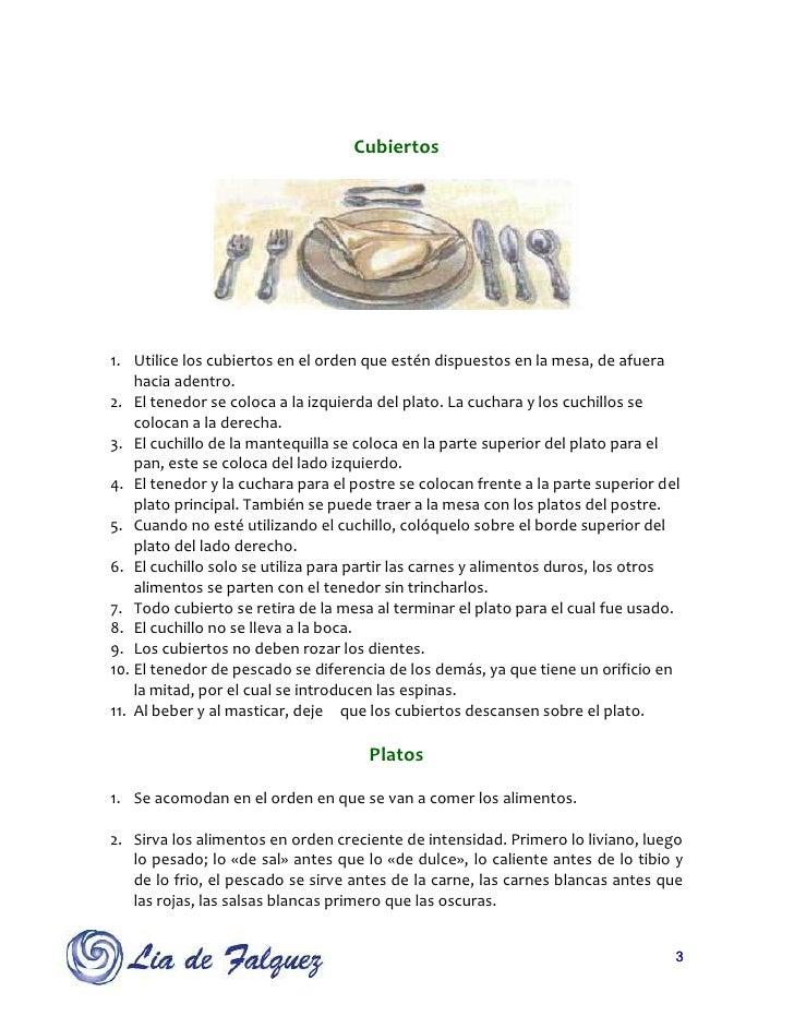 Protocolo de mesa ok for Orden de los cubiertos en la mesa