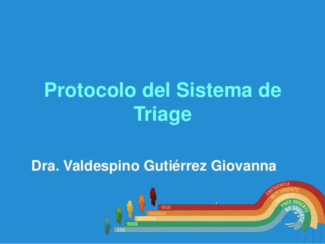 Protocolo del Sistema de Triage • Dra. Valdespino Gutiérrez Giovanna  EPS SURA
