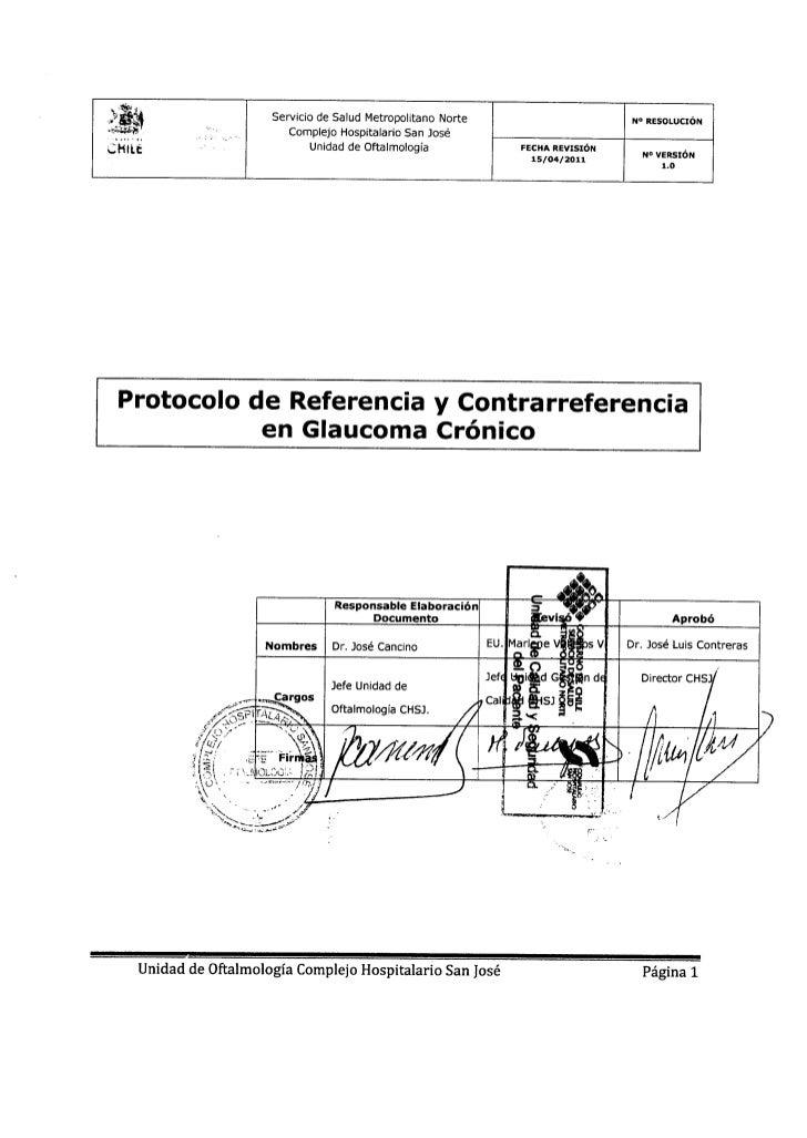 Protocolo glaucoma crónico