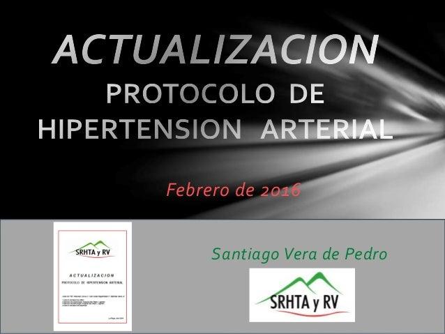 Febrero de 2016 Santiago Vera de Pedro