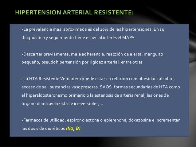 ENFERMEDAD CARDIACA: -Para pacientes con EC, se debe considerar un objetivo de PAS < 140 mmHg (IIa, B) -Para pacientes con...