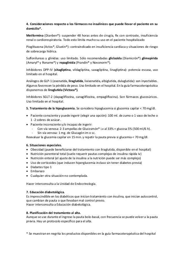 Protocolo ingreso diabético no crítico