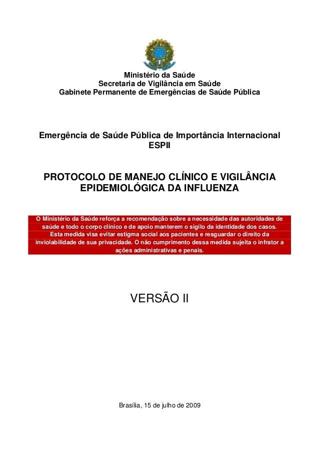 Ministério da Saúde Secretaria de Vigilância em Saúde Gabinete Permanente de Emergências de Saúde Pública  Emergência de S...