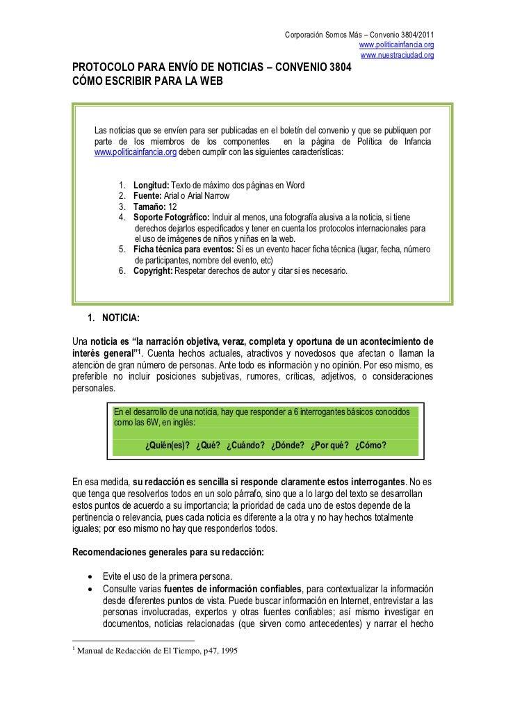 Corporación Somos Más – Convenio 3804/2011                                                                                ...
