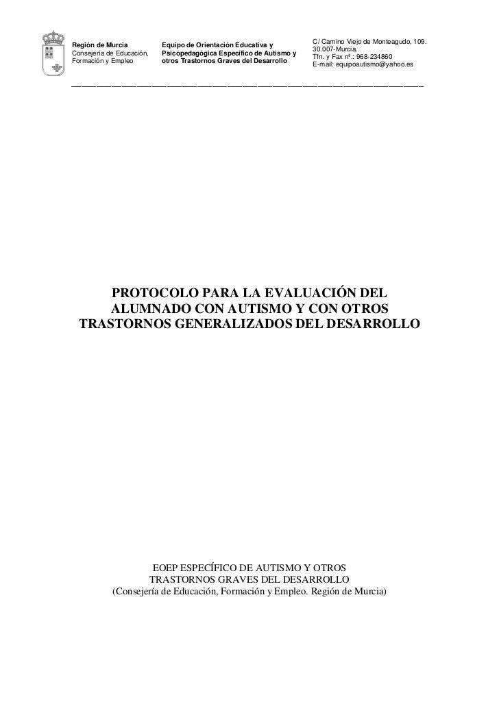 C/ Camino Viejo de Monteagudo, 109.Región de Murcia           Equipo de Orientación Educativa y                           ...