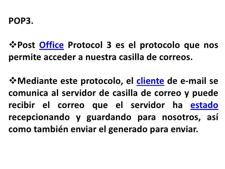 Protocolo pop3 Slide 2