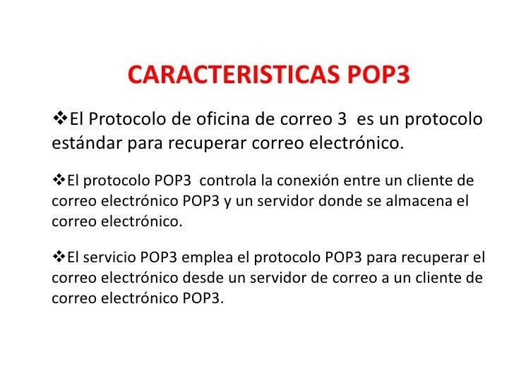 Protocolo pop3 for Protocolo pop