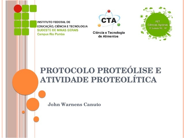 PROTOCOLOPROTEÓLISEE ATIVIDADEPROTEOLÍTICA JohnWarnensCanuto