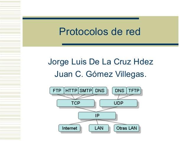 Protocolos de red Jorge Luis De La Cruz Hdez Juan C. Gómez Villegas.