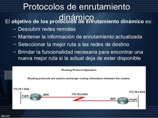 Clasificación de los protocolos de enrutamiento