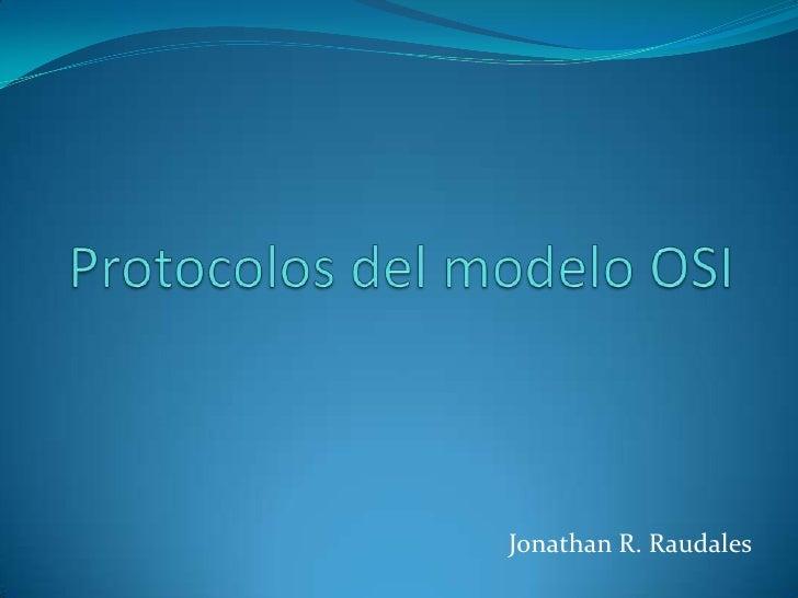 Jonathan R. Raudales