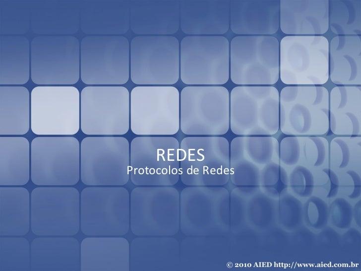 REDES Protocolos de Redes