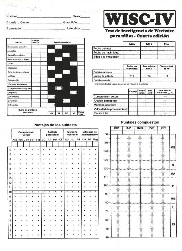 MANUAL DE APLICACION WISC IV PDF DOWNLOAD