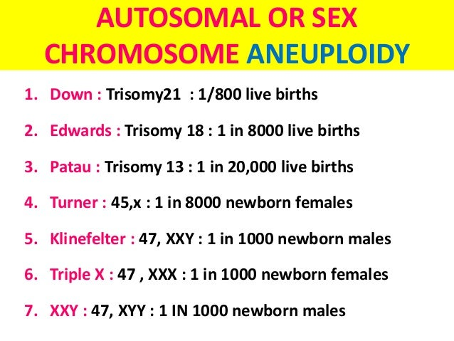 autosomal and sex chromosome disorders xxy in Eydzhaks