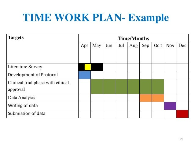 Work Plan Example  Ex