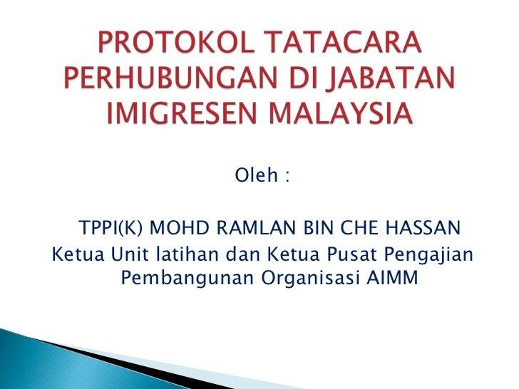 Oleh :<br />TPPI(K) MOHD RAMLAN BIN CHE HASSAN<br />Ketua Unit latihandanKetuaPusatPengajian Pembangunan Organisasi AIMM<...