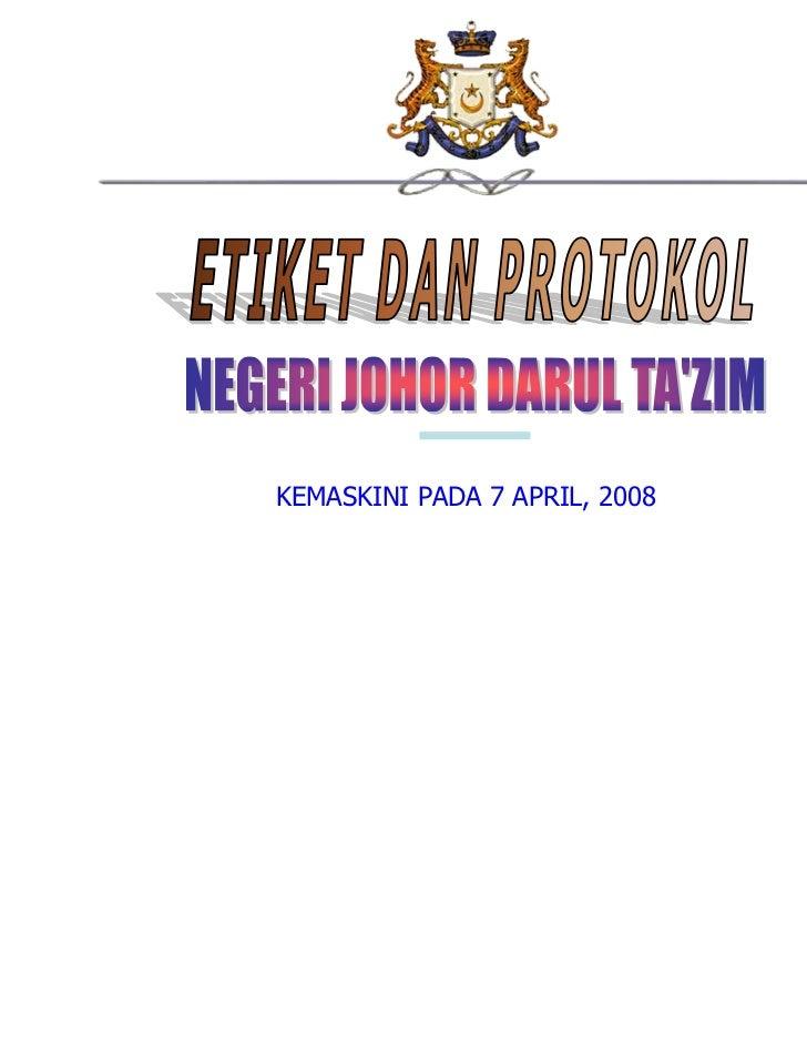 KEMASKINI PADA 7 APRIL, 2008