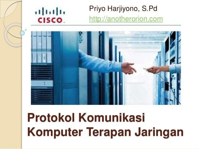 Protokol komunikasi komputer terapan jaringan