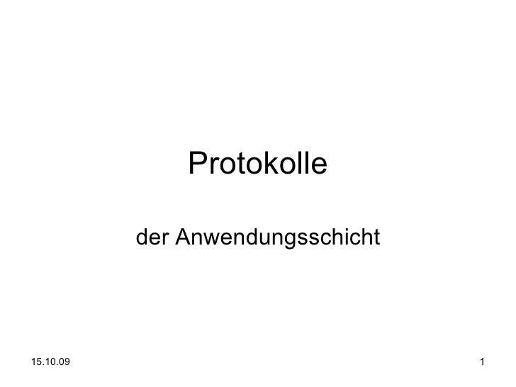 Protokolle der Anwendungsschicht
