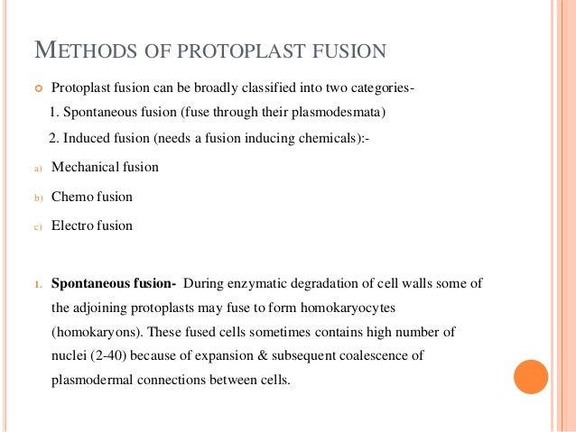 ... Regeneration Of Protoplasts; 9. METHODS OF PROTOPLAST FUSION ...
