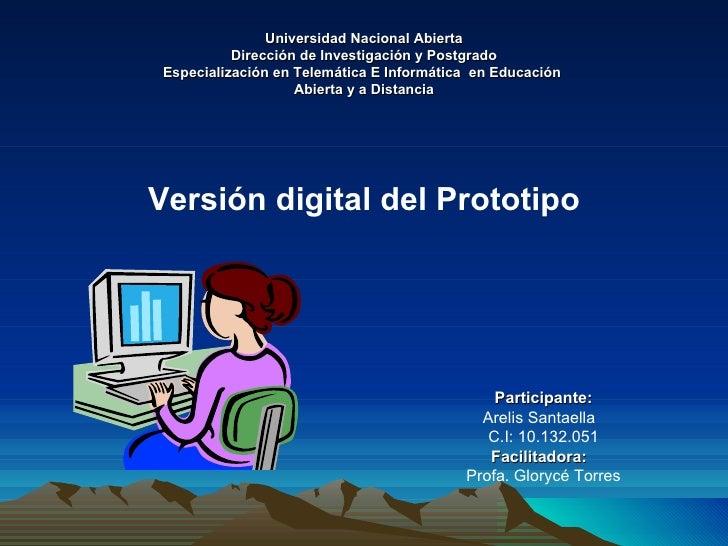 Universidad Nacional Abierta Dirección de Investigación y Postgrado Especialización en Telemática E Informática  en Educac...