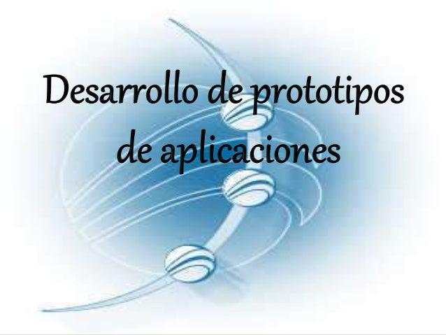 Que es un prototipo: Los prototipos son una visión preliminar del sistema futuro que se implantara. La elaboración de prot...