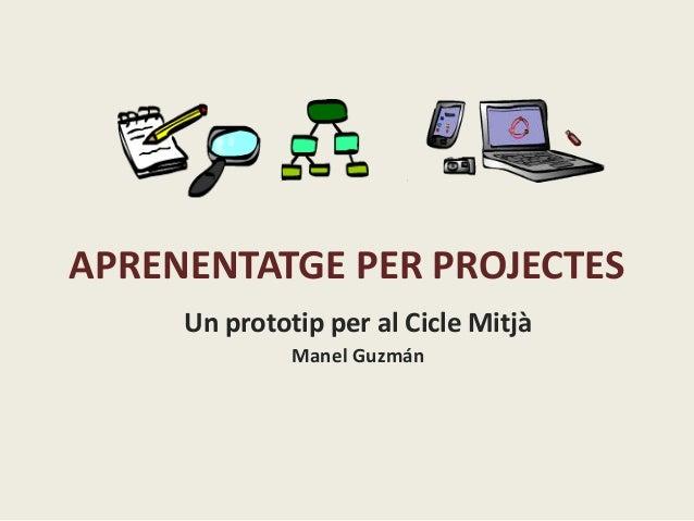 APRENENTATGE PER PROJECTES Un prototip per al Cicle Mitjà Manel Guzmán