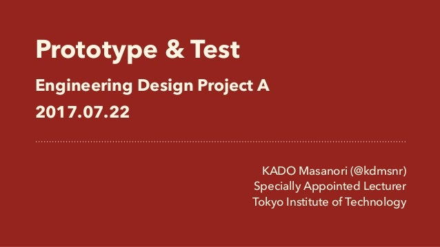 Prototype & Test