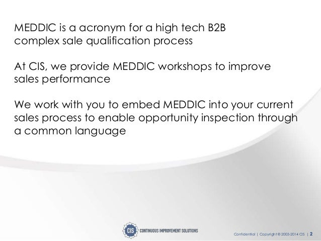 Continuous Improvement - MEDDIC high impact solution overview Slide 2