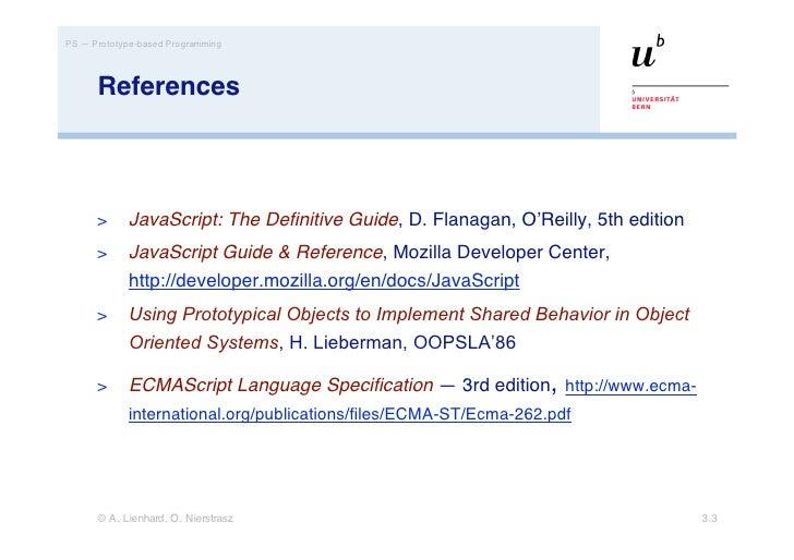 prototype based programming with javascript rh slideshare net JavaScript Language Reference JavaScript Reference Manual