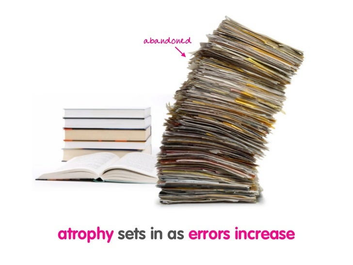 abandoned     atrophy sets in as errors increase