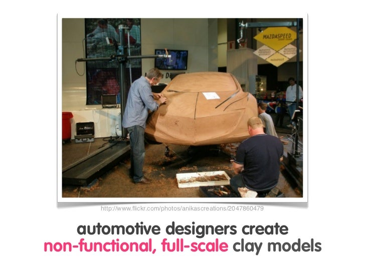 http://www.flickr.com/photos/anikascreations/2047860479       automotive designers create non-functional, full-scale clay m...