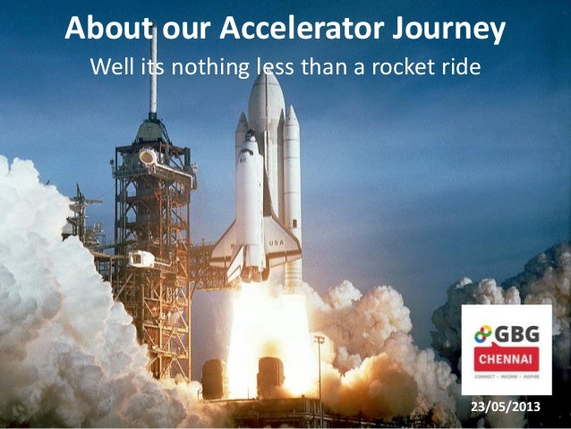 About our Accelerator Journey Well its nothing less than a rocket ride 23/05/2013
