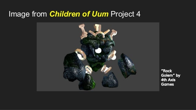 """Image from Children of Uum Project 4 """"Rock Golem"""" by 4th Axis Games"""
