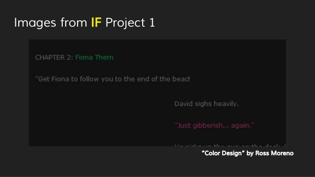 """Images from IF Project 1 """"Color Design"""" by Ross Moreno"""