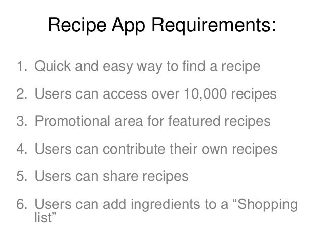 User Flow sketch exercise • • • • •  Home screen Category screen Recipe detail screen Shopping list screen Check out scree...
